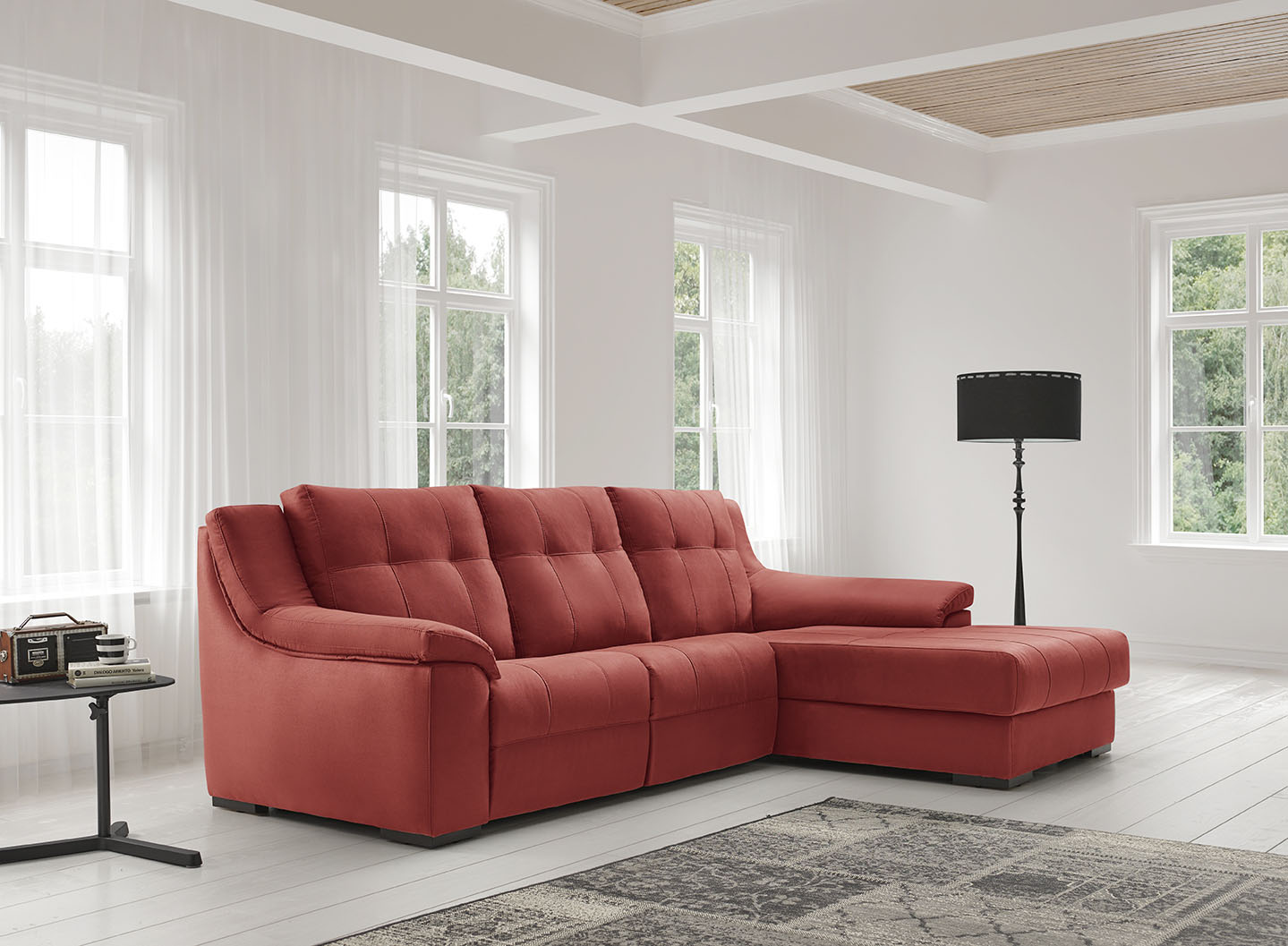 sofa chaiselongue relax moderno Mercado del Mueble Vivarea Pinto