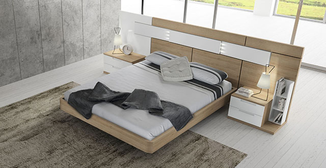 cabecero de cama de matrimonio moderno Mercado del Mueble Vivarea Pinto