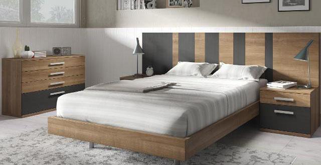 cabecero de cama de madera Mercado del Mueble Vivarea Pinto