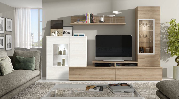 salon moderno de madera Mercado del Mueble Vivarea Pinto