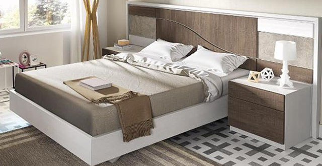 Cabecero de la cama matrimonio Mercado del Mueble Vivarea Pinto